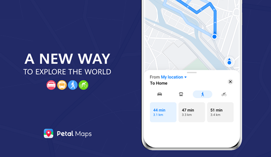Huawei updates its Petal Map app, brings Route planning for walks, bike rides, and public transit